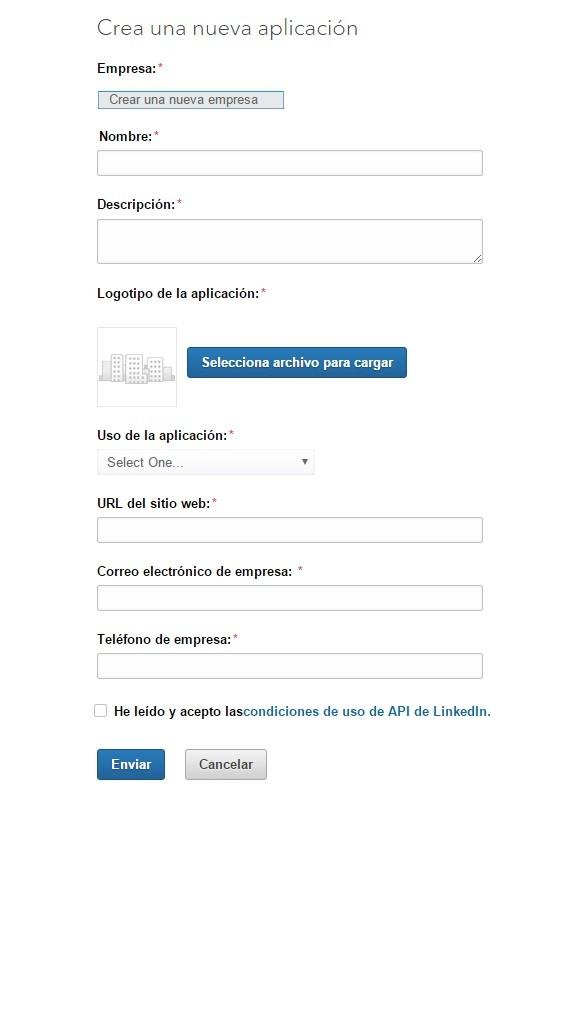 crear aplicacion linkedin 2
