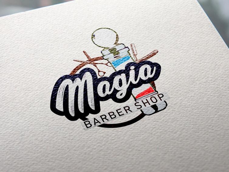 Magia Barber Shop - diseño de Logotipos en Cantabria